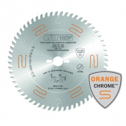 Industrial low noise & chrome coated fine cut-off saw blades for two-sided melamine439